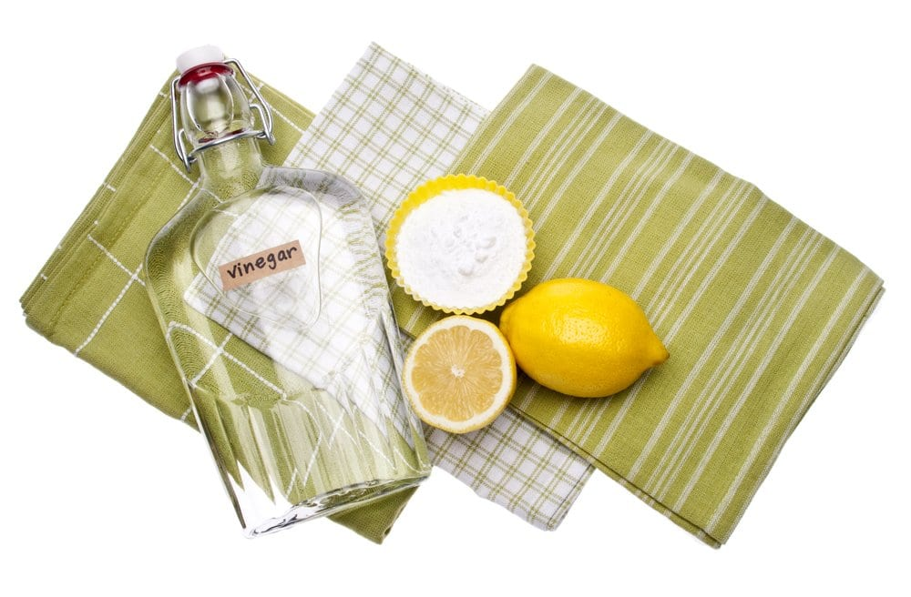 vinegar bottle with lemons